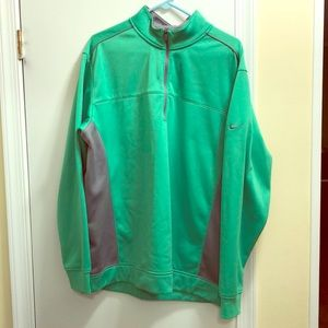 Nike Green and Gray Golf Jacket
